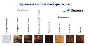 Деревянная люстра Колесо Кольцо состаренное светлое на 5 ламп, фото 2