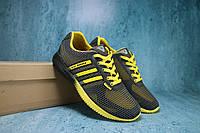 Мужские кроссовки Vitex Черные/Желтый 10787 Реплика