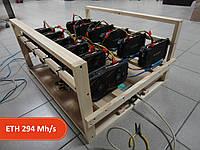 Майнинг ферма на 12 видеокарт GTX1060 3GB GIGABYTE WINDFORCE (Samsung, ОС Linux)