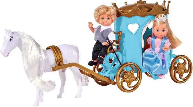 Кукольный набор Simba Эви и Тимми Карета принцессы с лошадью 5738516