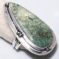 Красивое кольцо с моховым агатом. Элегантное кольцо моховый агат в серебре 18 размер Индия!, фото 1