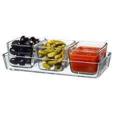 МИКСТУР Форма/блюдо для духовок, 4 шт, прозрачное стекло 60101652 IKEA, ИКЕА, MIXTUR, фото 3