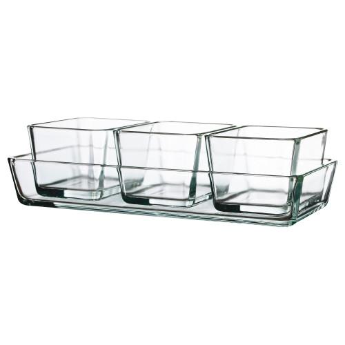 МИКСТУР Форма/блюдо для духовок, 4 шт, прозрачное стекло 60101652 IKEA
