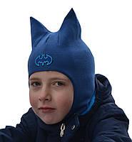 Демисезонная шапка шлем для мальчика Beezy Бэтмэн