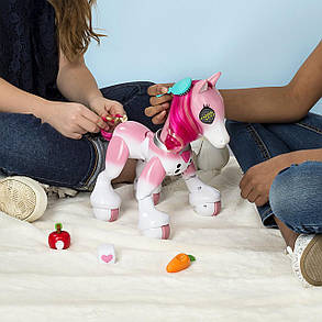 Интерактивная лошадка Пони с аксессуарами Zoomer Show Pony Lights Sounds and Interactive Movement, фото 2