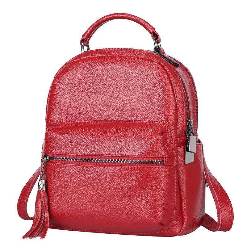 03c187856059 Женский рюкзак красный из натуральной кожи опт купить по выгодной ...