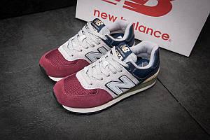 Модные женские кроссовки New Balance (Нью Беленс) 574, бордовые (11551), р.36, 37, 38, 39, 40*