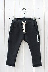 Модные детские спортивные штаны с принтом hart.  Размеры: 92-116