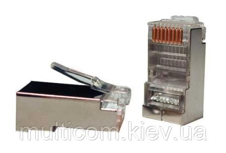 01-12-022. Штекер сетевой 8р8с (RJ-45), экранированный, упаковка 1000шт