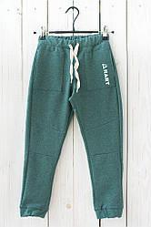 Модные спортивные штаны зеленого цвета на мальчика подростка. Размер: 122-146