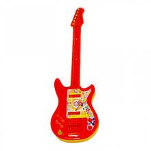 Детский музыкальный инструмент «Maximus» (5095) Гитара большая, (красно-оранжевая)
