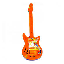 Детский музыкальный инструмент «Maximus» (5095) Гитара большая, (оранжево-синяя)