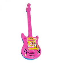Детский музыкальный инструмент «Maximus» (5095) Гитара большая, (розово-голубая)