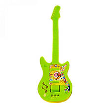 Детский музыкальный инструмент «Maximus» (5095) Гитара большая, (салатово-желтая)