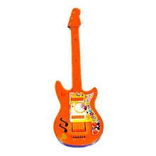 Детский музыкальный инструмент «Maximus» (5096) Гитара маленькая, (оранжево-синяя)