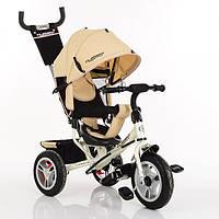 Детский трехколесный велосипед Turbo Trike M 3113-7A, бежевый