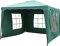 Павильон шатер садовый 3х3 м с тремя водонепроницаемыми стенками Everyday зеленый Зеленый