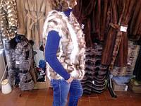 Песец песцовый жилет меховой жилет из песца натуральный песец 46 размер, фото 1