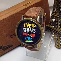 """Наручные часы """"Every Thing Will Be Ok"""""""