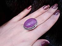 Кольцо с натуральным камнем ботсванский агат в серебре.Кольцо с агатом.