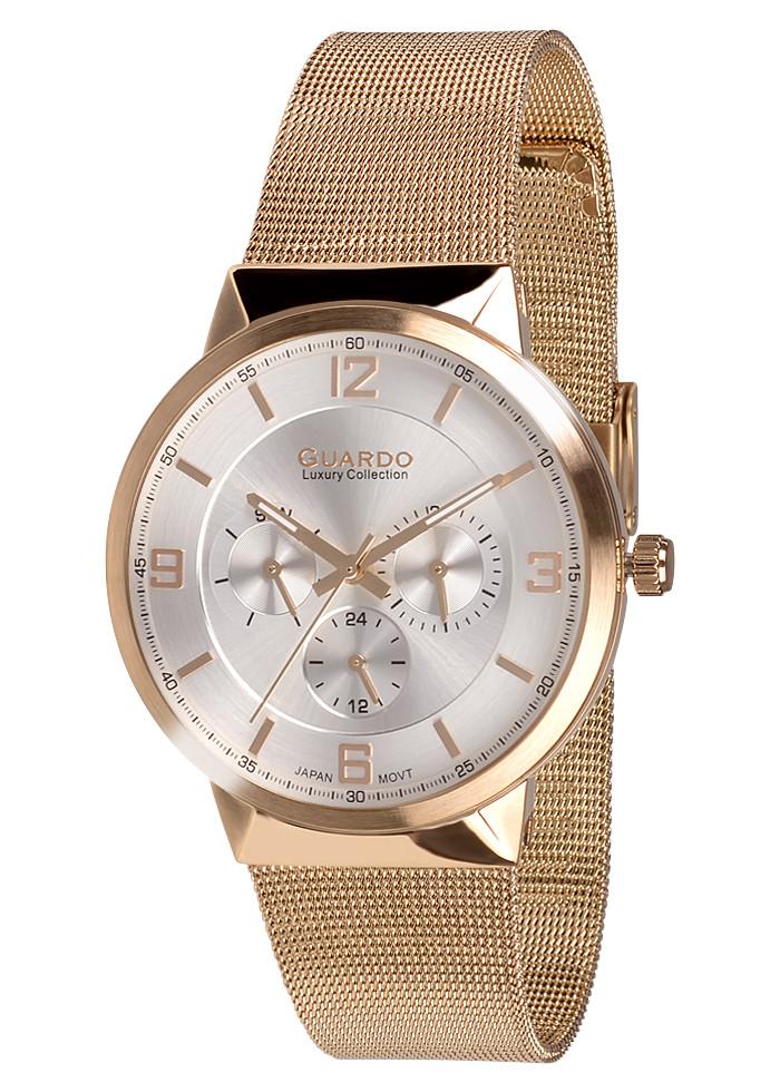 Чоловічі наручні годинники Guardo S01626(m) GW
