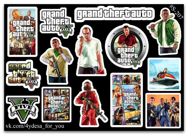 Stickers Pack GTA #207