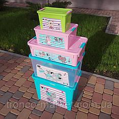 "Комплект Контейнер ""Smart Box"" Алеана с декором Pet Shop 5шт"