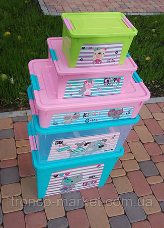 "Комплект Контейнер ""Smart Box"" Алеана с декором Pet Shop 5шт, фото 2"
