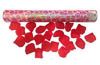 Хлопушка свадебная пневматическая с лепестками роз длина 40 см