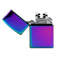 Электроимпульсная зажигалка SUNROZ, Портативная электронная аккумуляторная USB зажигалка, Райдужна (SUN0210)