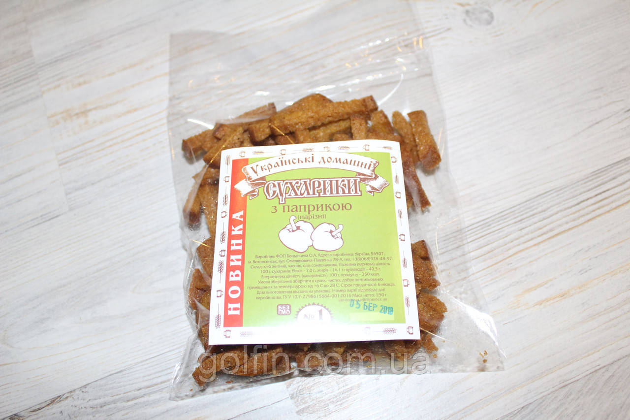 Сухарики ржаные с паприкой - соломка/150