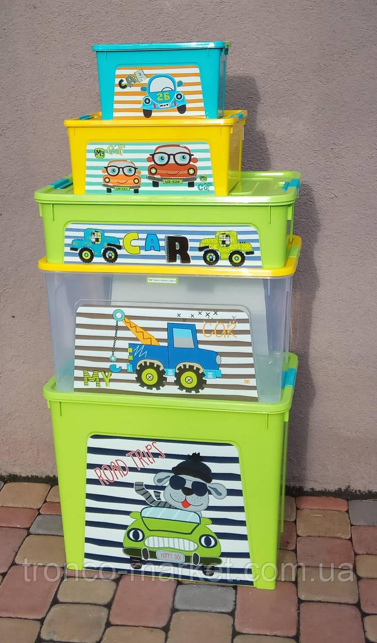 "Комплект Контейнер ""Smart Box"" Алеана с декором My Car 5шт"