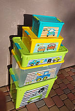 "Комплект Контейнер ""Smart Box"" Алеана с декором My Car 5шт, фото 3"