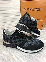 Кроссовки мужские Louis Vuitton D3038 серо-черные, фото 1