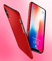 Чехол Spigen для iPhone X Thin Fit, Metallic Red, фото 1