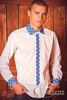 Сорочка з жовто-блакитною вишивкою, фото 1