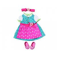 Платье, повязка и обувь для куклы BABY BORN - Баварский стиль***