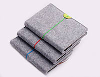 Блокнот на резинке, войлочная обложка, 11х15 см, A6, в ассортименте