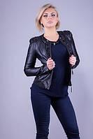 """Куртка кожзам женская LAFEISHOI """"Бетси""""в Украине, фото 1"""