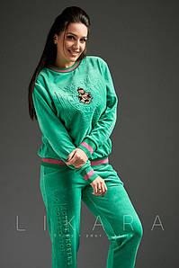 Женский демисезонный спортивный костюм №82-670 БАТАЛ