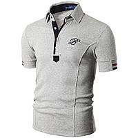 Футболка-поло мужская Doublju Mens Casual Short Sleeve Polo T-shirt