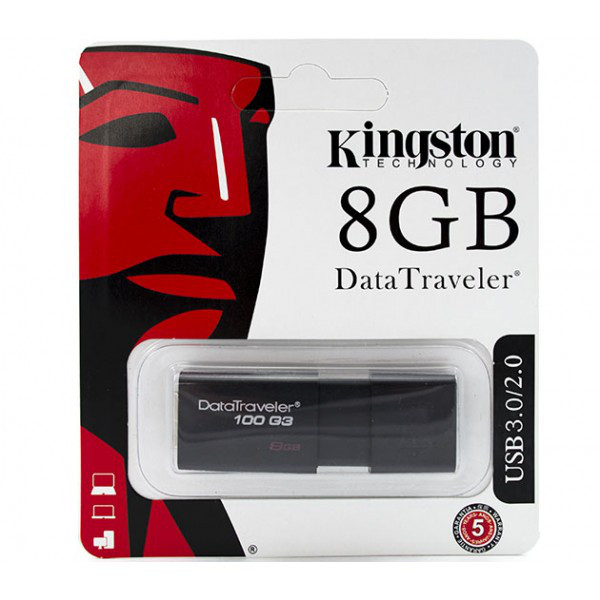 USB Флешка Kingstone DataTraveler 100G3 8Gb USB 3.0 / 2.0