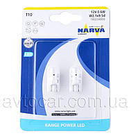 Автолама Narva Range Power LED-T10 W5W,  0.6W 12V