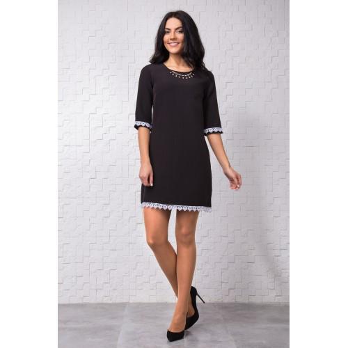 83ec049f14c Классическое черное платье А-силуэта
