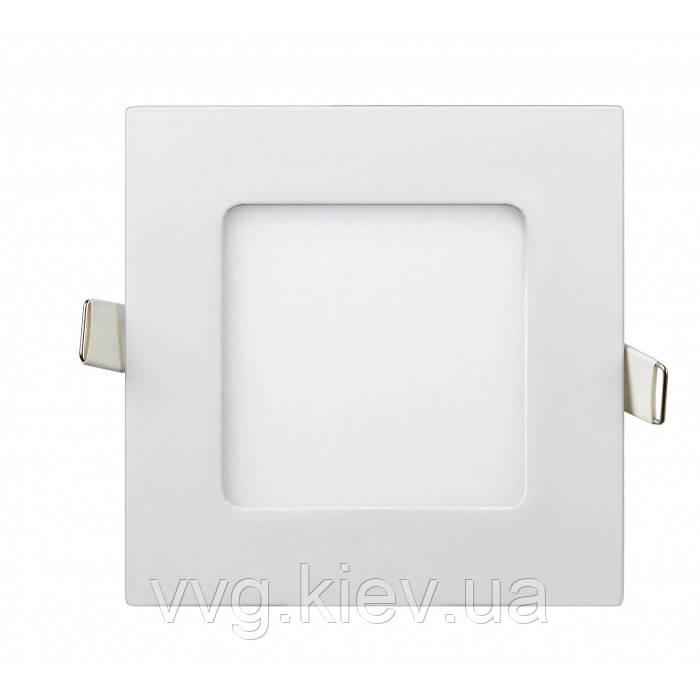 Точечный LED светильник встраиваемый квадратный 6W 120мм/107мм 4200K 470lm Lezard