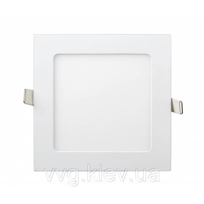 Точечный LED светильник встраиваемый квадратный 9W 145мм/132мм 4200K 710lm Lezard