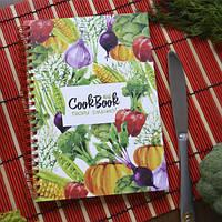 Блокнот для записи рецептов с овощами