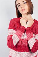 Свитер женский крупная вязка 381F001 (Кораллово-розовый)