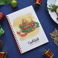Блокнот для записи рецептов с гамбургером