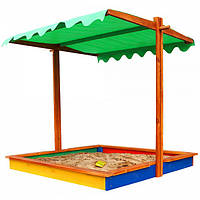 Детская песочница с крышей SportBaby Песочница-24